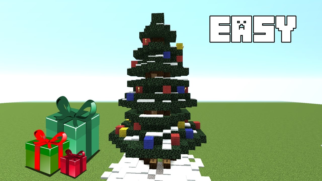 Minecraft How To Build A Christmas Tree House Tutorial