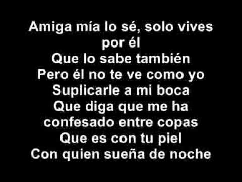 Alejandro Sanz - Amiga mía (con la letra)