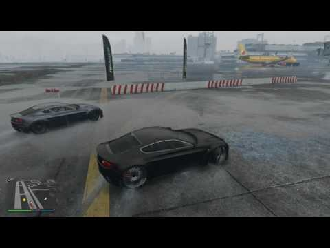 GTA 5 Drifting | Airport Track Drifting w/ Rain *No MoDs
