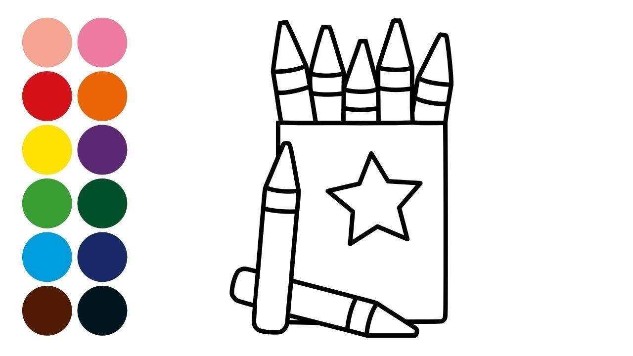 CRAYON DE CERA aprender a dibujar y colorear crayon para niños - Dibujos para niños con Handel