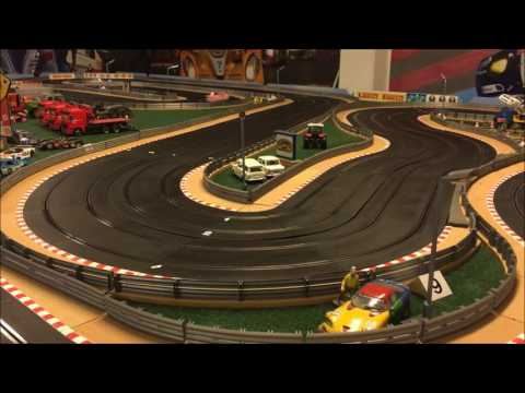 1/24 BRM cars on Scalextric track
