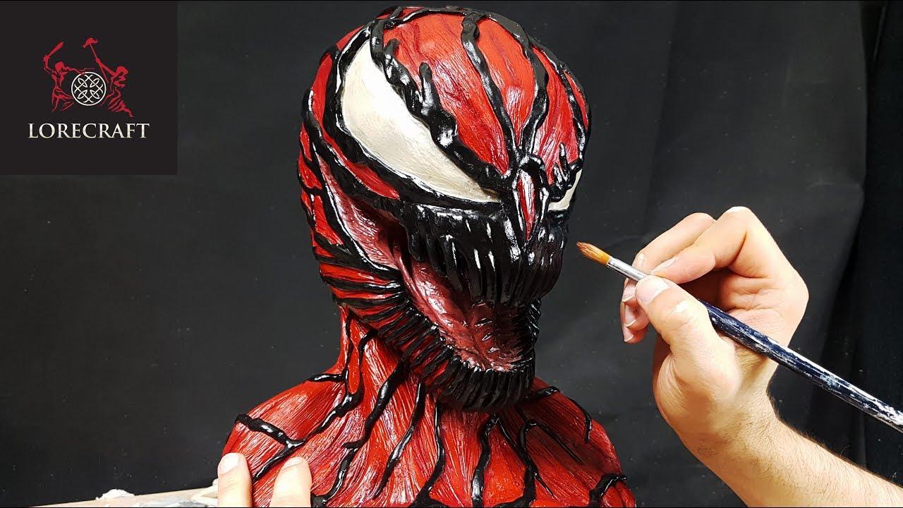 CARNAGE Sculpture Timelapse - Venom Sculpture Series