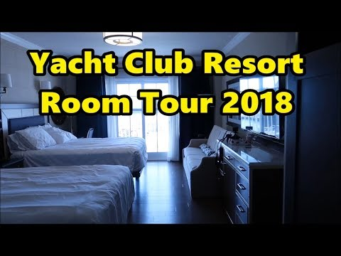 Disney's Yacht Club Resort Standard Room Tour 2018