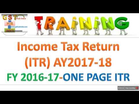 ITR Filing Online 2017-18