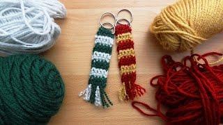 Crochet Slytherin Scarf Keychain