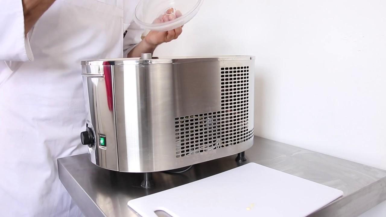 SPEISEEISMASCHINE Musso Eismaschine Mini mit Kompressor Maschiene Machine Inox