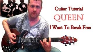 I Want To Break Free - Queen (guitar tutorial)