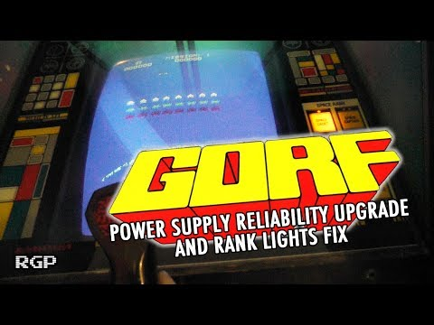 GORF Arcade Game by Bally Midway 1981 - power supply conversion - RGP #027