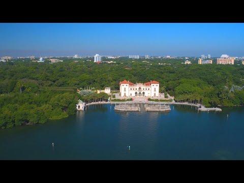 Florida Travel: Flying Above Vizcaya Museum & Gardens, Miami