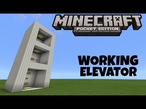 Minecraft PE : How to make Working Elevator