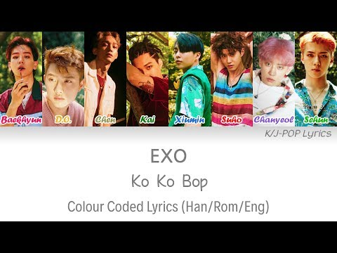 EXO (엑소) - Ko Ko Bop Colour Coded Lyrics (Han/Rom/Eng)