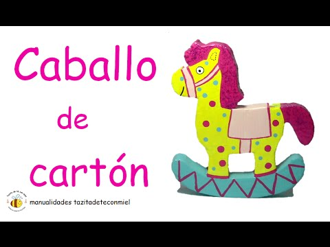 caballo de carton manualidades / crafts horse / diy