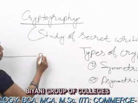 Cryptography lecture, BCA, MCA by Ms. Rashmi Sharma