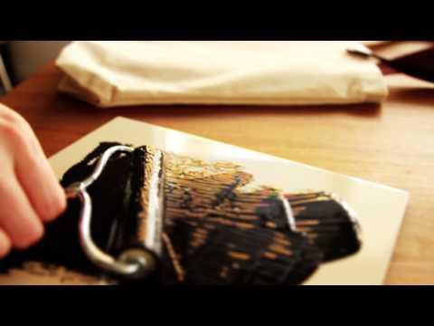 DIY Stamped Tote Bag