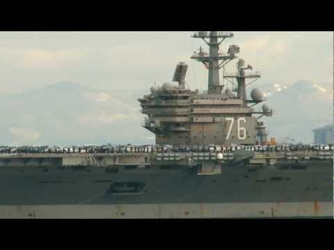 USS Ronald Reagan Arrives Puget Sound Naval Shipyard