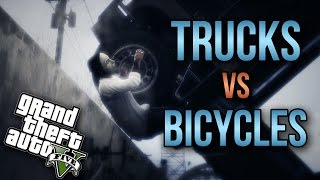 Trucks Vs. Bicyles!
