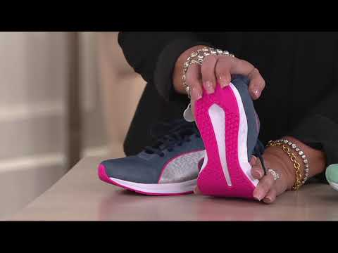 PUMA Heathered Jersey Lace-up Sneakers - Burst on QVC