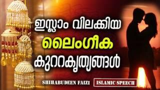ഇസ്ലാം വിലക്കിയ ലൈംഗീക കുറ്റകൃത്യങ്ങൾ | LATEST NEW ISLAMIC SPEECH MALAYALAM 2017  Shihabudeen Faisi