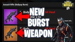 *NEW WEAPON UPDATE* Legendary/Epic Burst Rifle Tomorrow (PS4 Pro) Fortnite Gameplay