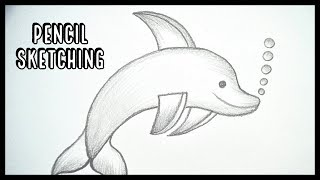 How To Draw A Dolphin || Pencil Sketching || Pencil Shading