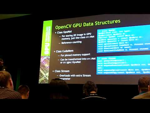 Computer Vision Libraries with GPUs -- GPU Tech Conf GTC 2012