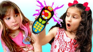 Pretend play with magic remote control toy | Funny stories For Kids by Alice and TOYS