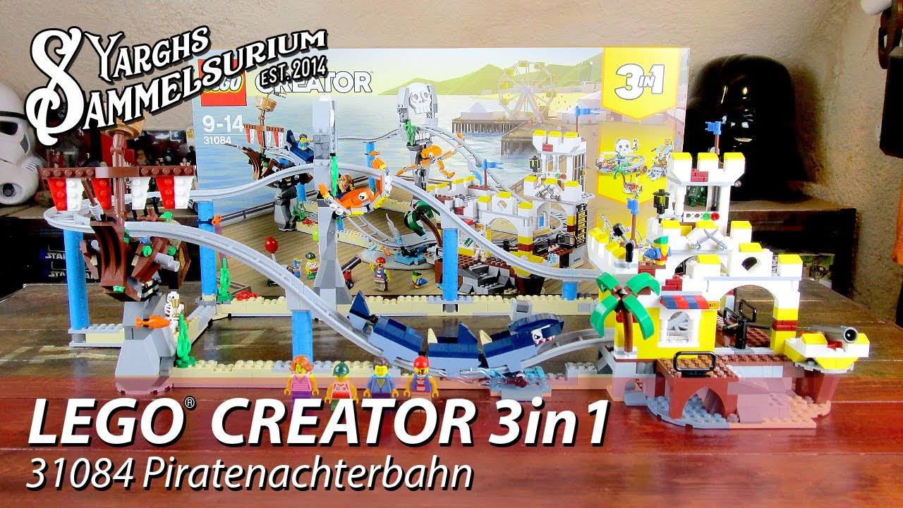Review Lego Creator 3in1 31084 Piraten Achterbahn Unboxing