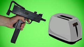 Experiment - Mit Maschinen Pistole Co2 Softair auf Toaster schießen und mehr!