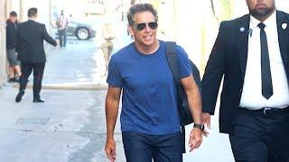 Ben Stiller Greets Fans Before Appearing On Jimmy Kimmel Live