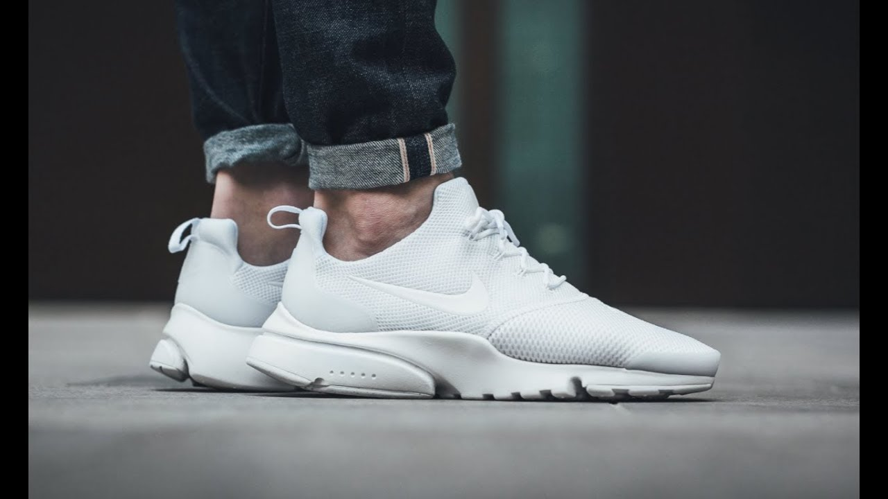 214b341fbd00 NIke Presto Fly Casual White Unboxing - YouTube