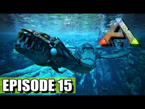 """THE HORRORS BELOW """"Ark Survival Evolved"""" PLESIOSAUR SOLO TAME"""