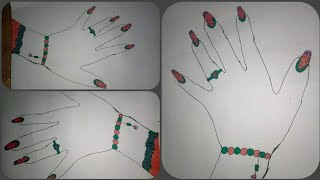 A Beautiful Girl's Hand Drawing with Nail Polish & Bracelet || Rabeya's Tiny World