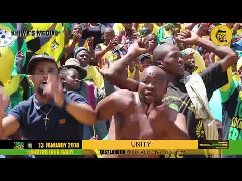 ANC 106 Unity  Song, Phakama Ramaphosa East London, Jan8 Statement