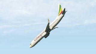 Ethiopian Airlines Flug ET302 - Crash-Animation [X-Plane 11]