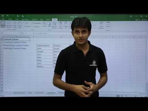 MS Excel - Custom View