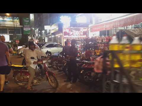 The Kingdom Of Cambodia, Phnom Penh Nightlife Travelling Around The City.