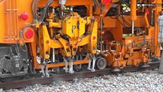 Indian Railways Plasser Tamper and Stabiliser Machines at Work