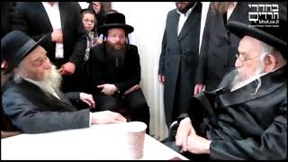 Tchakave Rebbe With R' Dovid Soloveitchik ztz