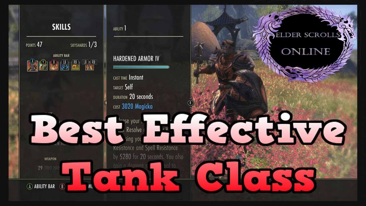 Eso Best Tank Class 2019 ESO   Best Effective Tank Class Build PvP & PvE   YouTube