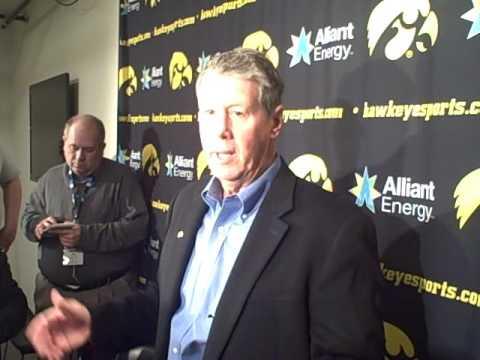 New Iowa quarterbacks coach Ken O'Keefe chats with the media Sunday