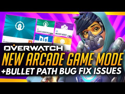 Overwatch | NEW ARCADE GAME MODE + Bullet Path Bug Fix Issues