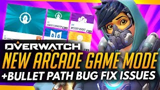 Game | Overwatch NEW ARCADE GAME MODE Bullet Path Bug Fix Issues | Overwatch NEW ARCADE GAME MODE Bullet Path Bug Fix Issues