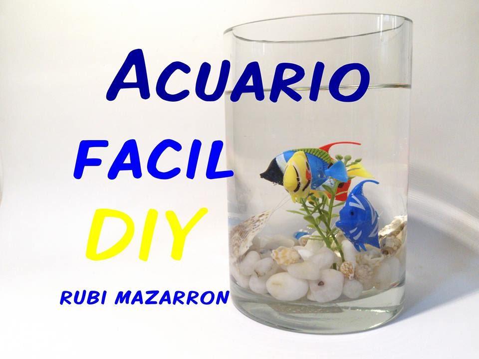 Diy como hacer un acuario facil manualidades youtube - Manualidades para chicos ...