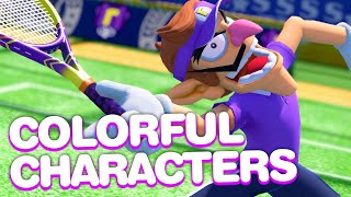 Mario Tennis Aces Gameplay Shows Off Colorful Characters