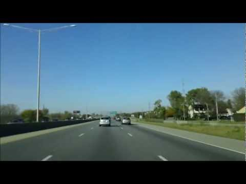 Driving Between Wheaton and Palatine Illinois on a Sunday Afternoon