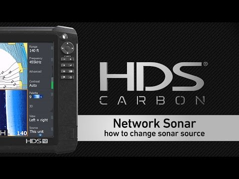 Selecting a Sonar Source on a Lowrance HDS Display