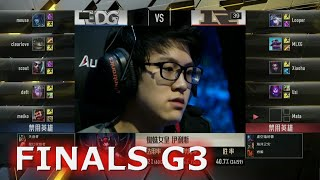 EDG vs RNG G3 Grand Finals of S6 LPL Summer 2016 PlayOffs | Edward Gaming vs Royal Never Give Up
