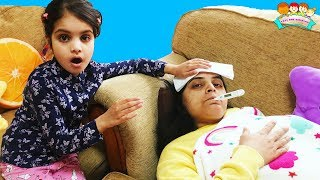 Cutie and Ashu Taking Care of Sick Mummy | KatieCutie Show