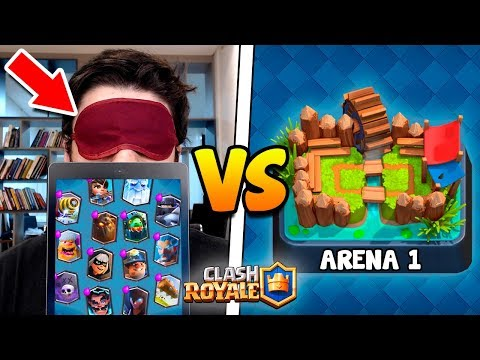 SEM VER! TODAS AS LENDÁRIAS TROLLANDO NA ARENA 1 DO CLASH ROYALE! (JOGUEI VENDADO!)