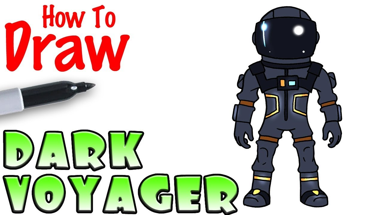 How To Draw The Dark Voyager Fortnite Youtube